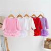 New rose baby romper lace princess newborn rompers cotton long sleeve girls romper tutu dresses baby infant girl designer clothes A7869