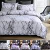 4colors Marble Pattern Bedding Sets Duvet Cover Set 2 3pcs Bed Set Twin Double Queen Quilt Cover Bed linen (No Sheet No Filling)