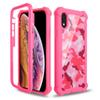 For IPhone 8 7 6 5 PLUS SE2 X XR XS MAX Camouflage Design Hybrid Combo 3 in 1 Printed Defender Phone Case