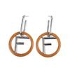 Women Vintage Earrings Personality F Letter Girl Stud Night Club Exaggerated Letter Eardrop Brand Female Party Earrings