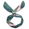 NEW Arrival Vintage Banana Leaf Cross Hair Band Hair Accessories Fashion Women Head Wear Bow Knotted Rabbit Ears Printing Headbands