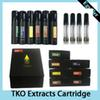 Newest black TKO Extracts Vape Cartridge 0.8ml Ceramic Coil For Thick Oil 510 Thread 20 Flavors Sticker Boxes and Display Box 0266276