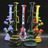 silicone bong ak47 shisha 270mm hookah unbreakable honey comb bong beaker bong smoking water glass pipe joint glass bowl