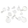 Silver Stainless Steel Base Fit 12 18 25mm Glass Cameo Cabochon Findings