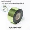 verde-maçã cinco centímetros de largura * 120 metros