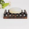 2019 Natural Bamboo Wood Soap Dish Storage Holder Plate Bathroom Shower Soap Tray free shiping ST074