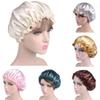 Drop Shipping Best Selling Long Hair Care Women Fashion Satin Bonnet Cap Night Sleep Hat Silk Cap Head Wrap 12#