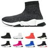 2019 Designer Socks shoes fashion men women sneakers speed trainer black white blue pink glitter mens trainers casual shoe Runner heavy sole