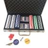 New Portable 300 Chips Poker Dice Chip Set Texas Poker Cards Aluminum Case