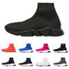 2019 designer Socks Shoes Speed trainers men women fashion Sneakers black white flat runner slip on canvas shoe size 36-45