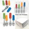 Plastic tube packaging TH205 Ceramic coil Ceramic mouth extract Oil Vape Cartridges 0.5ml 1ml 2.0mm holes atomizer Colorful Tip Cartridge