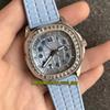 PP-Q38 (2) Gümüş Kılıf Mavi Kadran