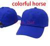 الأزرق مع الحصان ملون