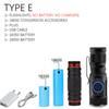 Package E-Black-mini flashlight