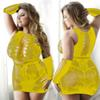 vestido amarillo atractivo