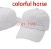 الأبيض مع الحصان ملون