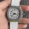 PP-Q38 (9) Tam elmas kılıf beyaz kadran