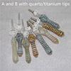 kuvars / titanyum ipuçları karışımı ile A ve B