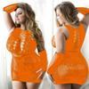 sexy vestido de naranja