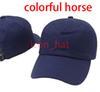 الأزرق الداكن مع الحصان ملون
