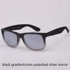 black gradient/silver unpolarized