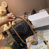 NO.2 حقيبة سوداء مع شعار الذهب