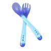 Azul Cuchara Y Tenedor