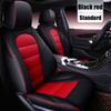 estándar de color rojo negro