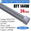 على شكل V-144W 8FT واضح غطاء أنبوب LED