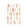 10x15 cm sans cadre Alphabet2