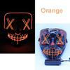 maschera LED arancione