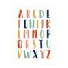 10x15 cm sans cadre Alphabet