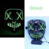 maschera LED verde