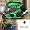 Clear + Green 2 visores