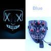 maschera LED blu