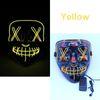 maschera LED giallo