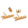 1 Paar Ohrringe Stahl Farbe
