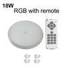 18W RGB مع جهاز التحكم عن بعد