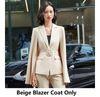Beige Blazer-Mantel