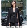 Schwarzer Blazer Mantel