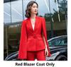 Roter Blazermantel