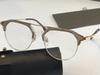 brown gold frame transparent lens