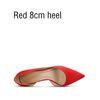 Красный 8см каблука