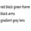 red black green frame gradient grey lens