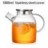 Cubierta de acero inoxidable de 1800 ml