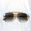 gold frame Gradient green lens