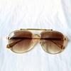 gold frame Gradient brown lens