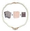 Halskette Rose Gold White + Box