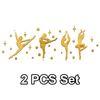 Oro 2 piezas Set
