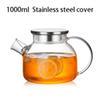 Cubierta de acero inoxidable de 1000 ml